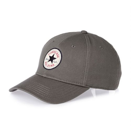 CONVERSE MENS BASEBALL CAP.GREY TWILL ADJUSTABLE SNAPBACK CURVED PEAK HAT CON301